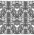 floral decorative black and white greek seamless vector image