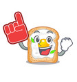 foam finger sandwich with egg isolated in mascot vector image