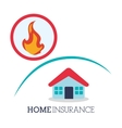 Insurance design house icon isolated vector image vector image