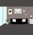 interior living room with sofa lamp pictures vector image