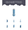 isometric building set of exterior apartment vector image