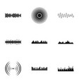 knock icons set simple style vector image vector image