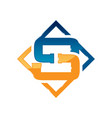 letter s plumbing company logo concept vector image