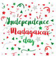 madagascar independence day vector image