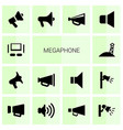 megaphone icons vector image vector image