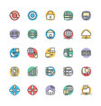 Networking Cool Icons 2 vector image vector image