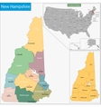 New Hampshire map vector image vector image