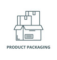 product packaging line icon linear concept vector image vector image