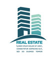 real estate purchase in city center commercial vector image vector image