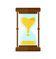 retro old vintage hourglass sandglass glass vector image