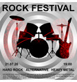 rock festival banner poster vector image