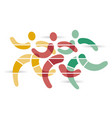 running race runners symbol vector image vector image