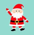santa claus waving hand happy new year merry vector image vector image