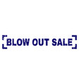 scratched textured blow out sale stamp seal inside vector image vector image