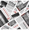 seamless pattern print newspaper texture vector image vector image