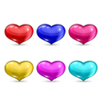 Set colorful hearts isolated on white background vector image vector image