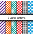 Set of 6 endless patterns vector image vector image