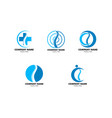 set of chiropractic concept logo design template vector image vector image