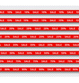 set of red realistic ribbons vector image vector image