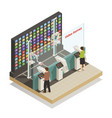 shopping robotic technologies isometric vector image vector image