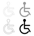 sign of the disabled the black and grey color set vector image