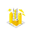 smart city data infrastructure center isometric vector image vector image