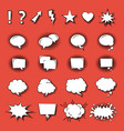 speak bubble icons flat on red background vector image