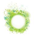 spring frame floral vector image vector image