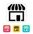 Store supermarket icon vector image vector image