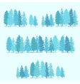 Three borders made of pine trees vector image vector image