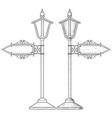 vintage lamp post hand drawn sketch vector image vector image