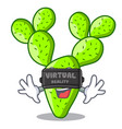 virtual reality beautiful opuntia cactus in the vector image vector image