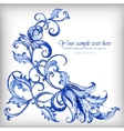 watercolor blue background details vector image vector image
