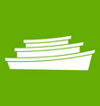 wooden boat icon green vector image vector image