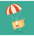 your package rushes to you parachute graphics vector image vector image