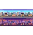 Day and night city Background vector image