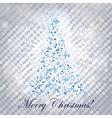 shiny christmas tree - vector image