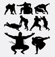 Sumo japanese fighting male sport silhouette vector image
