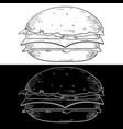 cheeseburger hand drawn sketch vector image