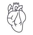 heart sign line icon sign on vector image