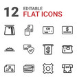 12 credit icons vector image vector image