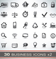 30 business icons set 2 vector image