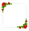 A floral border with red roses vector image vector image