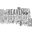 a swear word in heaven text word cloud concept vector image vector image