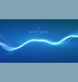 abstract blue particle wave points array vector image vector image
