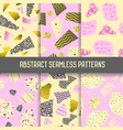 abstract seamless patterns set with gold elements vector image vector image