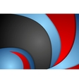 Abstract wavy corporate background vector image vector image