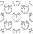 alarm clocks as seamless pattern hand drawn vector image