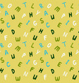 alphabetical seamless pattern abc colorful vector image