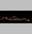 athens light streak skyline vector image